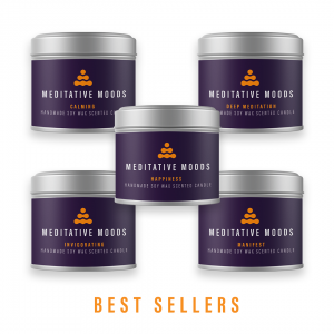 Meditative Moods Best Sellers 5 Scented Mood Candle Set
