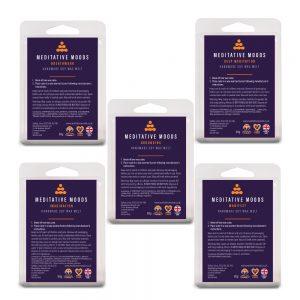 Meditative Moods Soy Wax Mood Melts Deeply Meditative Collection 5 Packs of 6 Blocks 80g